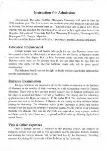 Buddha University Admission_0001