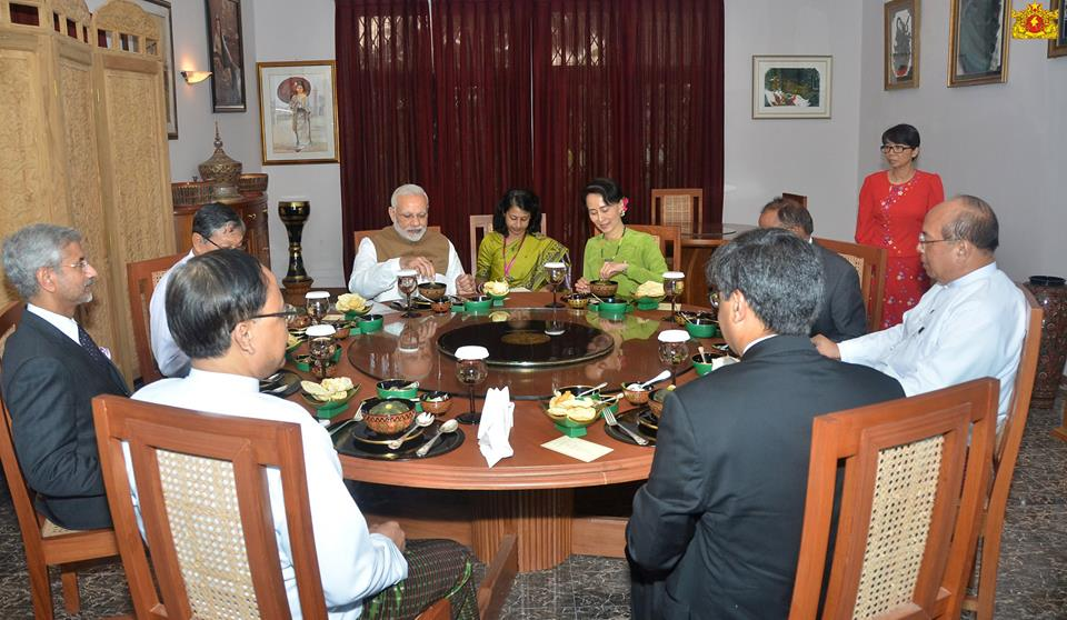 Prime Minister of India meeting with the State Counsellor of Myanmar