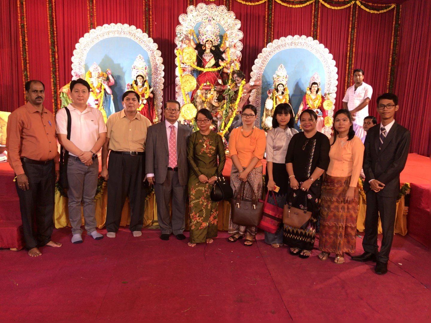 Members of Embassy of Myanmar participate in Durga Puja